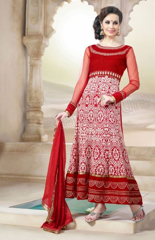 Anarkali Frock Eid Collection By Natasha Couture 1