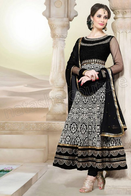Anarkali Frock Eid Collection By Natasha Couture 11