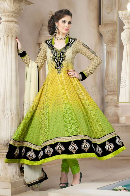 Anarkali Frock Eid Collection By Natasha Couture 113