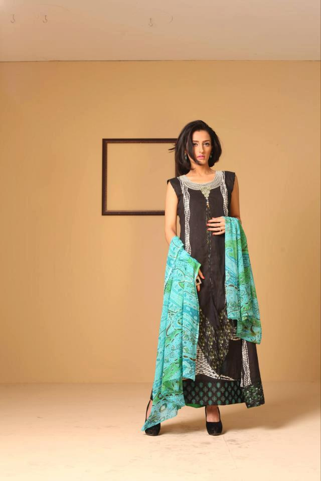 Ayesha Somaya Lawn Dress