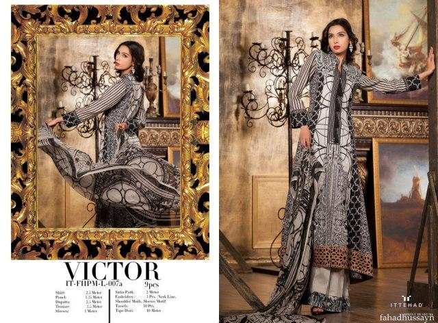 Black Fahad Hussayn Couture Lawn