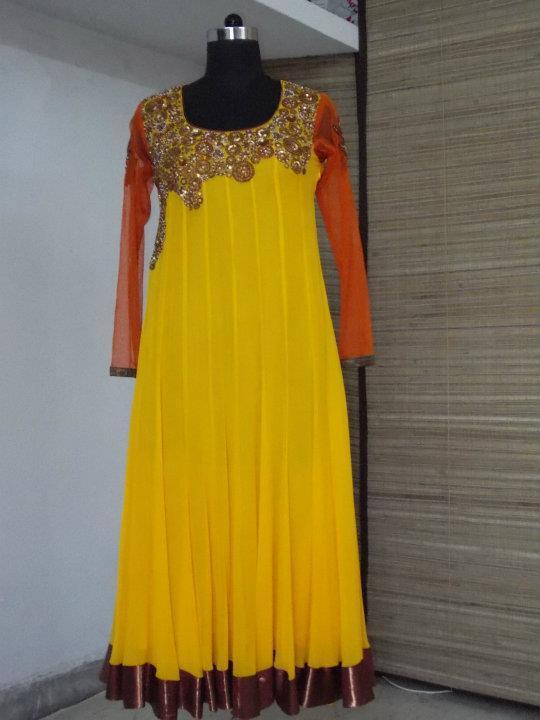 Bridal Party Yellow Frock
