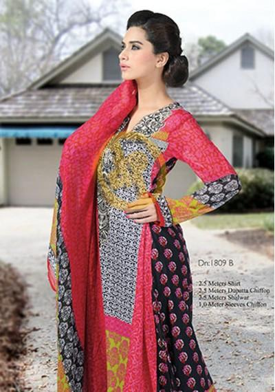 Dawood Hajiba De Chiffon Lawn Volume-2 Collection (4)
