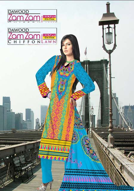 Dawood Zam Zam Lawn Volume-3 Collection 2013 For Women (2)