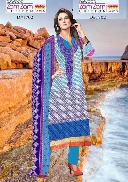 Dawood Zam Zam Lawn Volume-3 Collection 2013 For Women