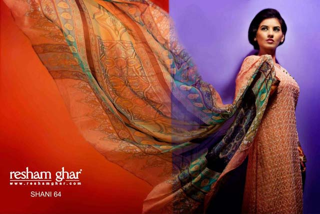 Eid Collection 2013 For Women By Resham Ghar (1)