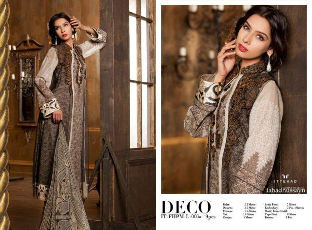Gray Fahad Hussayn Couture Lawn