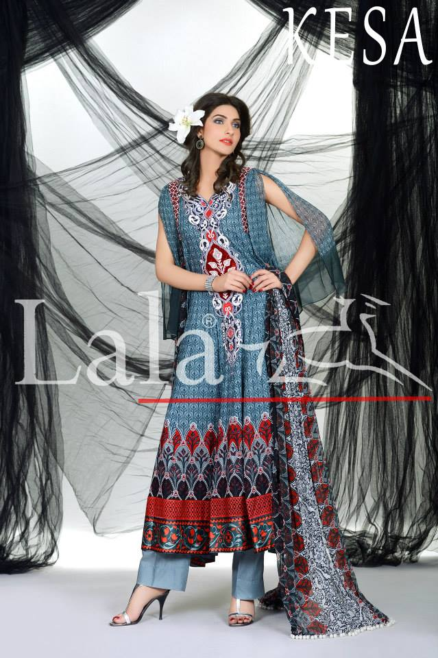 Kesa Embroidered Lawn Collection 2013 By Lala Textiles (1)