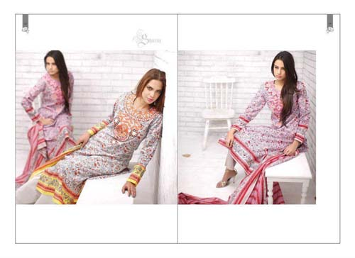 Rabea Designer Lawn Collection 2013 By Shariq Textiles