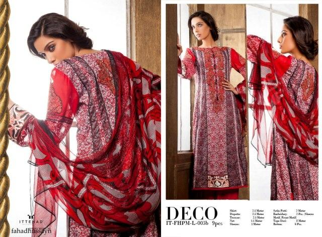 Red Fahad Hussayn Couture Lawn