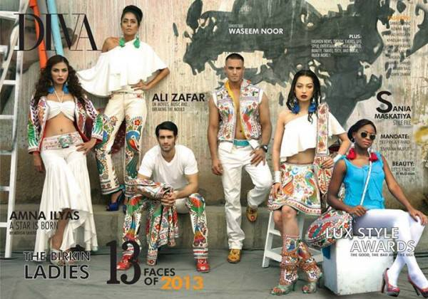 Rizwan Beyg Truck Art Diva magazine Summer Collection 2013 3