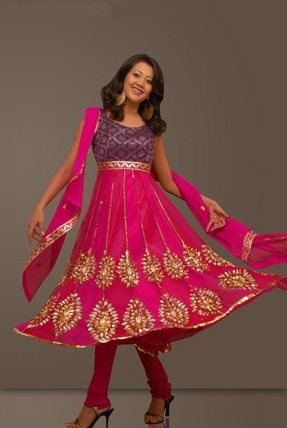 Shocking Pink Frocks Designs collection