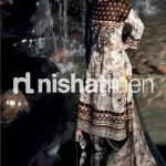 back design of blue dress by Nishat Linen 2013  Summer Collection