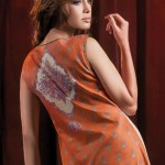 back design of orange dress Al-Karam Allure-Summer Collection 2013