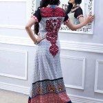 back of white and red dress by Al-Zohaib Textiles 2013 Lawn Collection