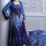 beautiful blue dress by Al-Zohaib Textiles 2013 Lawn Collection