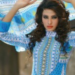 beautiful sky blue dress by Warda Lawn Collection 2013