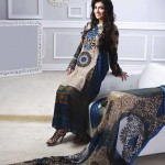 black and cream dress by Al-Zohaib Textiles 2013 Lawn Collection