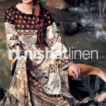 black and cream dress by Nishat Linen 2013  Summer Collection