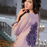black and light purple dress of Al-Karam Allure-Summer Collection 2013