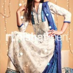 blue and cream Nishat Linen 2013  Summer Collection