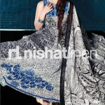 blue and gray dress by Nishat Linen 2013  Summer Collection