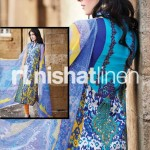 blue and purple dress by Nishat Linen 2013  Summer Collection