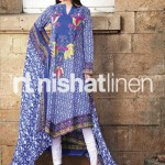 blue dress by Nishat Linen 2013  Summer Collection