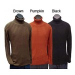 brown mens ribbed turtleneck sweaters