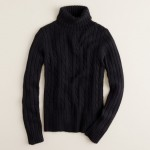 cambridge cable chunky turtleneck Black sweater