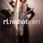 chocolate dress by Nishat Linen 2013  Summer Collection