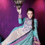 colorful dress of Warda Lawn Collection 2013