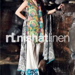 colorful dresss by Nishat Linen 2013  Summer Collection