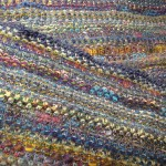 colorful linen shawl
