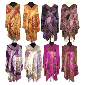 colorful silk shawl
