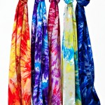 colorful tie dye scarf