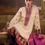 cream and pink dress of Al-Karam Allure-Summer Collection 2013