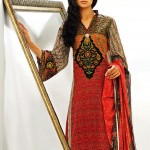 dark color dress by Warda Lawn Collection 2013