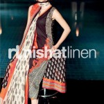 dark colorful dress by Nishat Linen 2013  Summer Collection