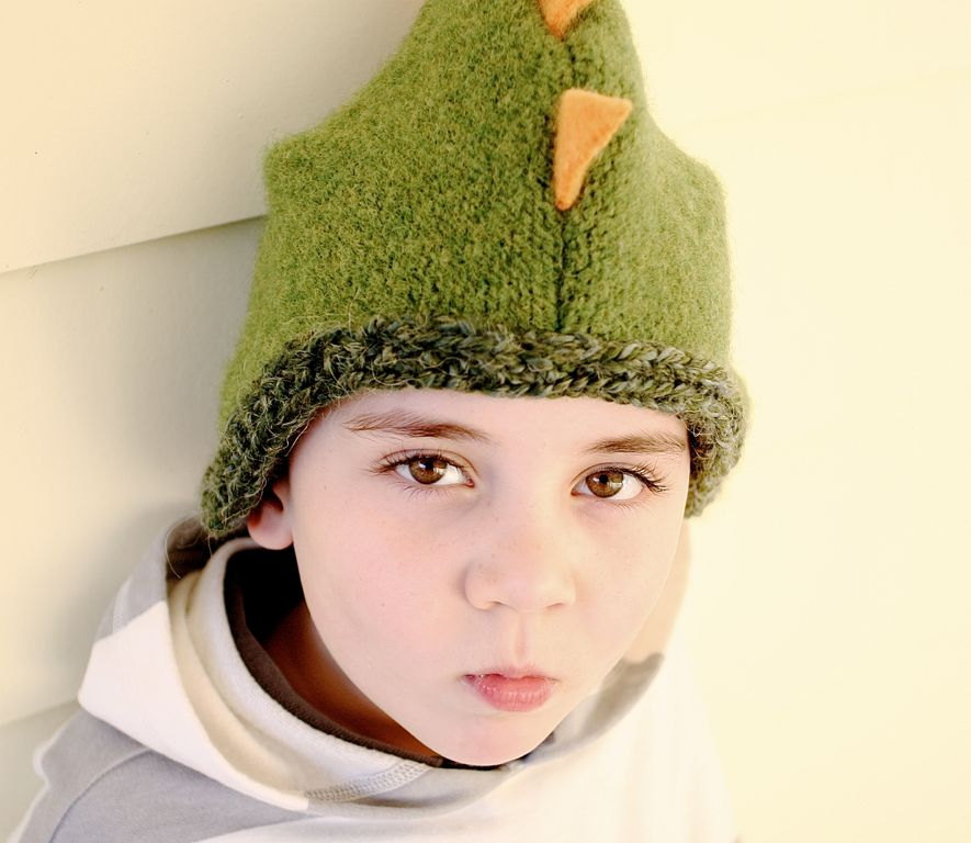 green winter hat