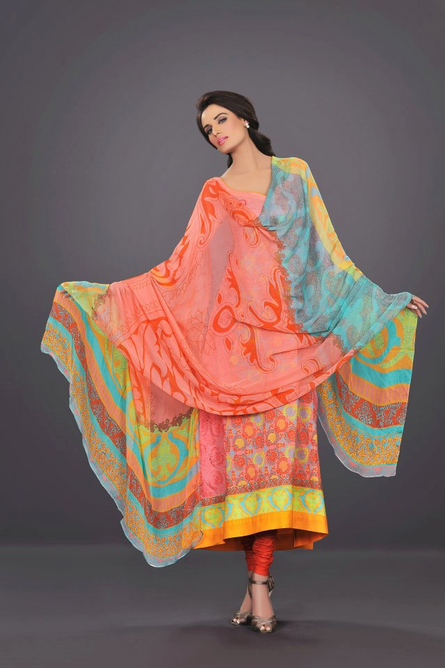 light colorful dress by The World Of HSY PrintsSummer 2013