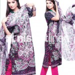 pink and black dress by Nishat Linen 2013  Summer Collection