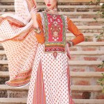 pink and orange conttras Warda Lawn Collection 2013
