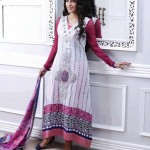 pink and white dress by Al-Zohaib Textiles 2013 Lawn Collection