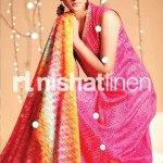 pink and yellow dress by Nishat Linen 2013  Summer Collection