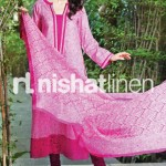 pink dress by Nishat Linen 2013  Summer Collection