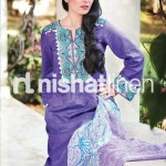 purple and white Nishat Linen 2013  Summer Collection