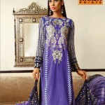 purple color dress byWarda Lawn Collection 2013