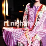 purple dress by Nishat Linen 2013  Summer Collection