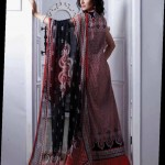 red and black dress by Al-Zohaib Textiles 2013 Lawn Collection